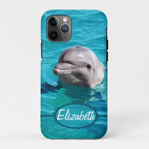 Dolphin in Blue Water Photo Phone Case