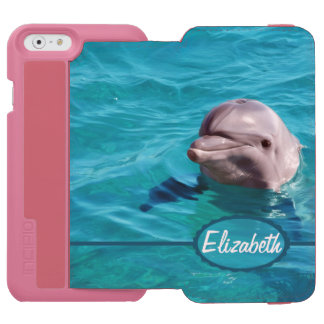 Dolphin in Blue Water Photo iPhone 6/6s Wallet Case