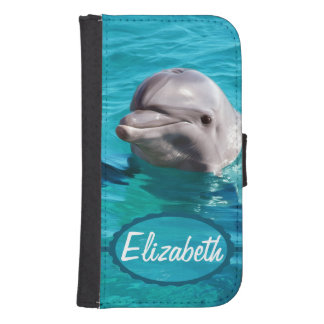 Dolphin in Blue Water Photo Phone Wallet