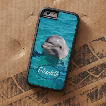 ironydesignphotos Dolphin in Blue Water Photo Tough Xtreme iPhone 6 Case