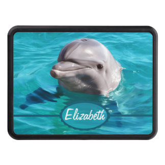 Dolphin in Blue Water Photo Tow Hitch Cover