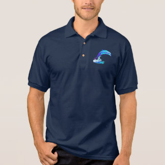 Dolphin in Colors in the Ocean Waves Polo Shirt