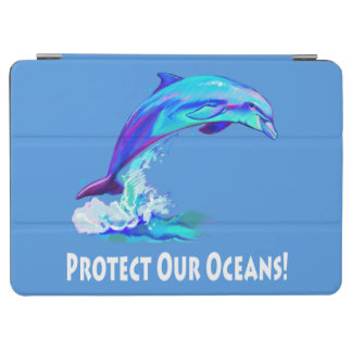 Dolphin in Colors: Protect our Oceans! iPad Air Cover