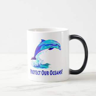 Dolphin in Colors: Protect our Oceans! Magic Mug