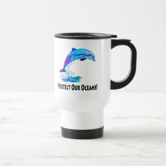 Dolphin in Colors: Protect Our Oceans! Travel Mug