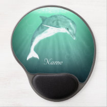 Dolphin in Emerald Sea Gel Mouse Pad