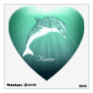 Dolphin in Emerald Sea Wall Sticker