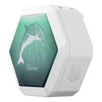 Dolphin in Emerald Sea White Bluetooth Speaker