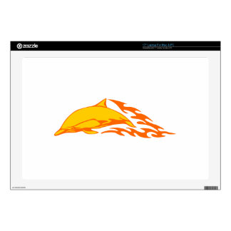 "Dolphin in Flames 17"" Laptop Skin"