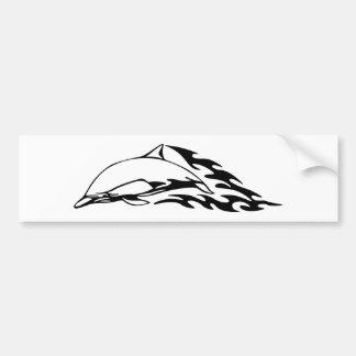 Dolphin in Flames Bumper Sticker