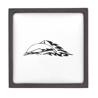Dolphin in Flames Keepsake Box