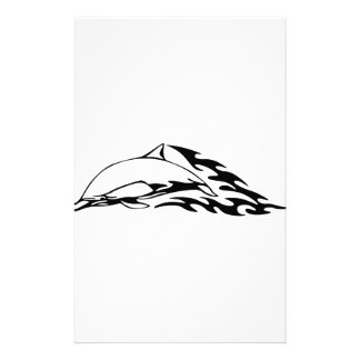 Dolphin in Flames Stationery