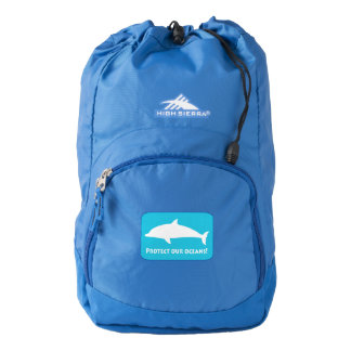 Dolphin in Silhouette: Protect Our Oceans Backpack