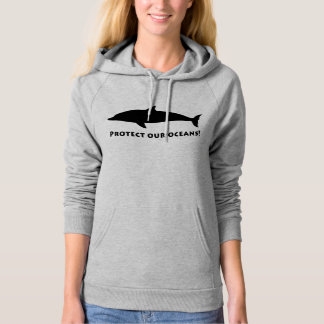 Dolphin in Silhouette: Protect Our Oceans Hoodie