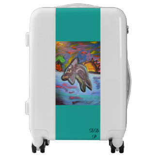 dolphin in sunset luggage