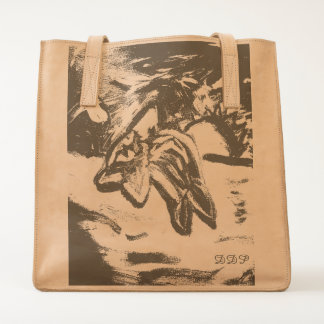 dolphin in sunset tote