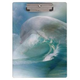 Dolphin In The Ocean Clipboard