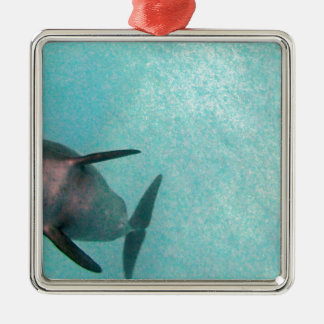 dolphin in the sea metal ornament