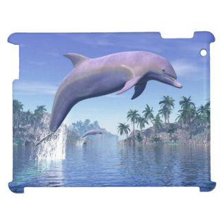 Dolphin in the tropics - 3D render Cover For The iPad