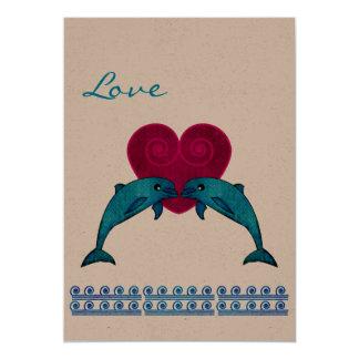 "Dolphin 5"" X 7"" Invitation Card"