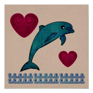 """Dolphin 5.25"""" Square Invitation Card"""