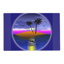 Dolphin Island laminated placemat