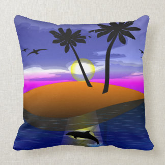 Dolphin Island square pillow