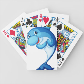 Dolphin isolated on white bicycle playing cards