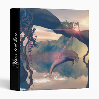 Dolphin jumping and playing vinyl binder