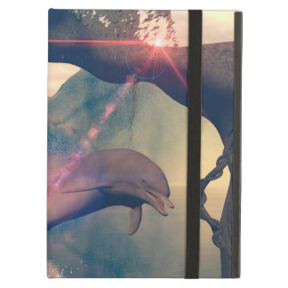 Dolphin jumping and playing case for iPad air