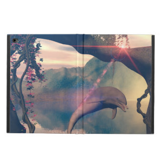 Dolphin jumping and playing powis iPad air 2 case