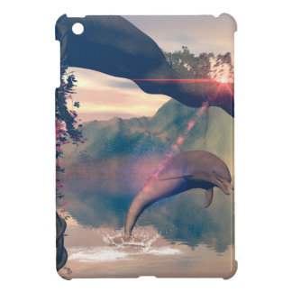 Dolphin jumping and playing cover for the iPad mini