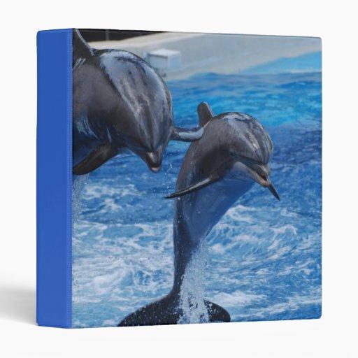 Dolphin Jumping  Binder