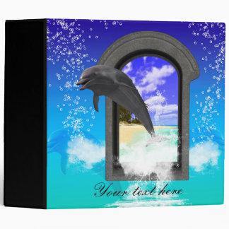 Dolphin jumping vinyl binder