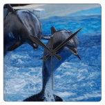 Dolphin Jumping Clock
