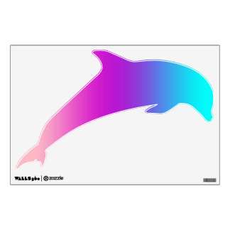 Dolphin Jumping Decal - Pinks, Purples, Blues