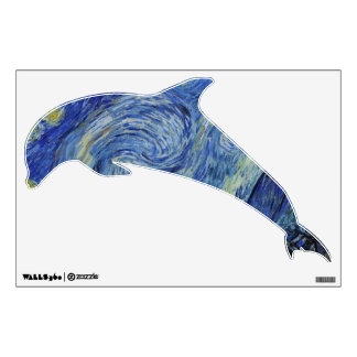 Dolphin Jumping from the Starry Night Wall Sticker