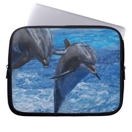 Dolphin Jumping Laptop Sleeve