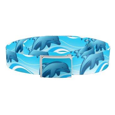 Beach Themed Dolphin jumping waves belt