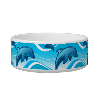 Dolphin jumping waves bowl