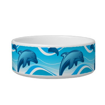 Beach Themed Dolphin jumping waves bowl