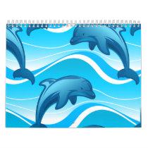 Dolphin jumping waves calendar