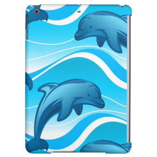 Dolphin jumping waves iPad air covers