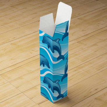 Dolphin jumping waves wine box