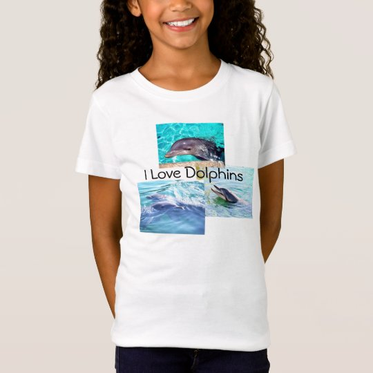 """Dolphin Kids T-Shirt """"I love Dolphins"""""""