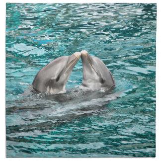 Dolphin Kiss Cloth Napkin