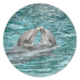 Dolphin Kiss Dinner Plate