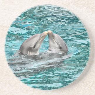 Dolphin Kiss Drink Coaster