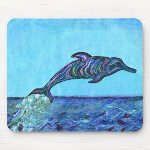 Dolphin leap mouse pad