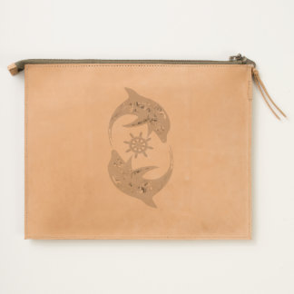 Dolphin Leather Travel Pouch